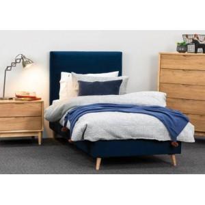 Ollie Indigo King Single Bed