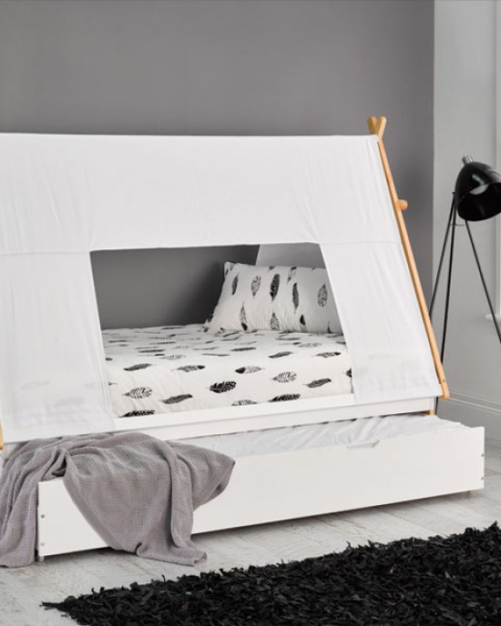 Teepee Single Bed with Trundle